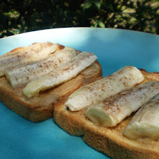 Grilled Banana, Peanut Butter and Honey on Toast (Diabetic)