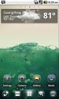Screenshot of GO SMS/GOLauncher Clee2 theme