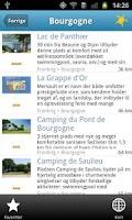 Screenshot of Camping Cheque guiden