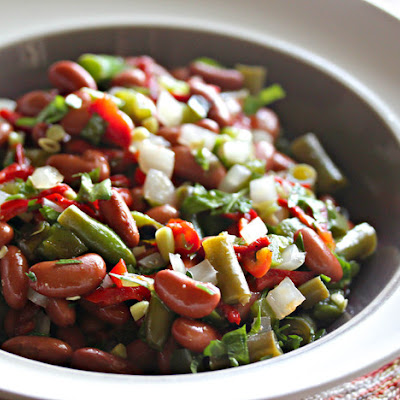 2-Bean Salad With Fire-Roasted Jalapeños and Pickled Red Peppers