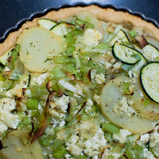 Leek and Potato Tart with Gruyère