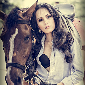 Cowgirl by Crispin Lee - People Portraits of Women