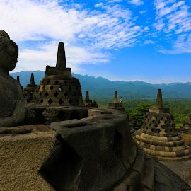 borobudur temple by Tyo Hujan - Landscapes Travel
