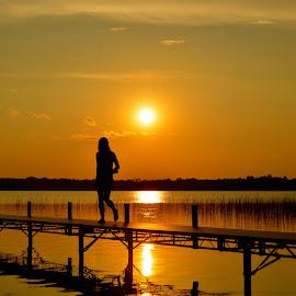 Michelle, Wolf Lake by Greg Koehlmoos - Landscapes Sunsets & Sunrises ( wolf lake, minnesota sunsets, minnesota summer fun, sunset, wolf lake mn, sunset silhouette,  )