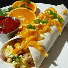 Ham and Cheese Breakfast Tortillas