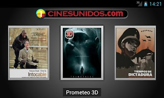 Screenshot of Cines Unidos