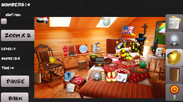 Screenshot of Mystery room. Hidden objects