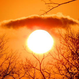 sun and a cloud by Jim Barton - Landscapes Weather ( clouds, sky, eye brow, sunny, cloud, weather, sun )