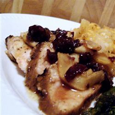 Marinated Pork Medallions with a Ginger-Apple Compote