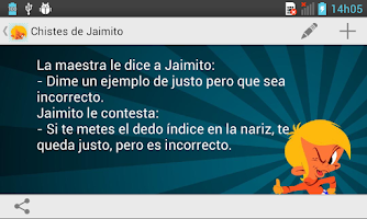 Screenshot of Chistes de Jaimito