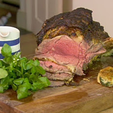 Roast Mustard Crusted Rib Of Beef