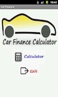 Screenshot of Car Finance Calculator