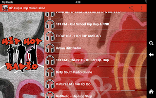 Screenshot of Hip Hop & Rap Music Radio