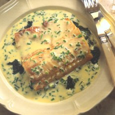 Smoked Haddock with Spinach and Chive Butter Sauce