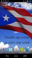 Screenshot of 3D Puerto Rico Flag LWP +