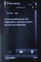 Screenshot of SSK Sorgulama ve SMS Kayıt