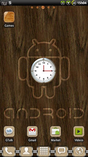 Brushed Clock widget