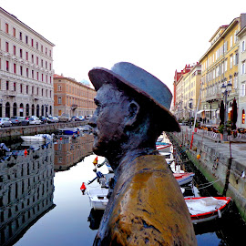 How are you, Mr Joyce? by Isabella Scotti - City,  Street & Park  Historic Districts (  )
