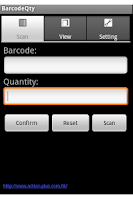 Screenshot of Inventory Barcode Scanner