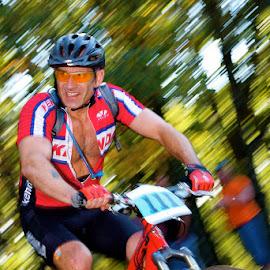 Mountain Bike racer by Tony Powers - Sports & Fitness Other Sports ( fitness, racing, mtn bike, mountain bike, bicycle )