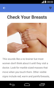 Tips to prevent breast cancer - screenshot