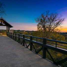 Arbor Hills Nature Preserve  by David Kobuszewski - Novices Only Objects & Still Life ( nature, sunset, arbor hills, texas, plano, preserve, path, landscape )