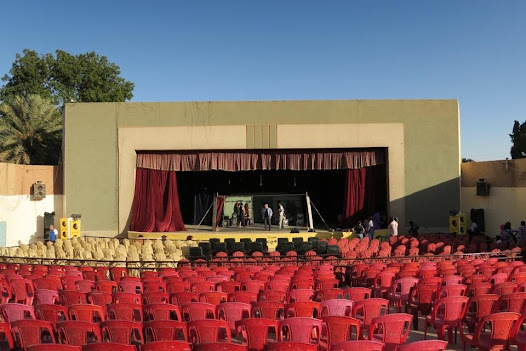 The National Theatre in Khartoum, Sudan. Dressed and ready for the show.