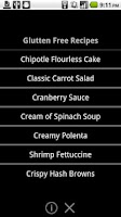 Screenshot of Gluten Free Recipes