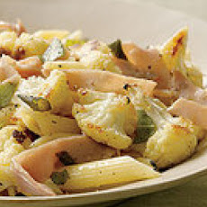 Pasta with Roasted Cauliflower and Ham