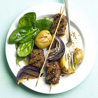 Dill Steak and Potato Kabobs