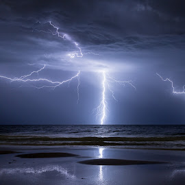 Mandurah Mayhem  by Michael Beazley - News & Events Weather & Storms