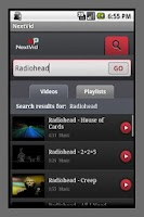 Screenshot of NextVid - YouTube player