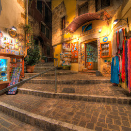 Historic District, Chania, Crete by Matthew Haines - City,  Street & Park  Historic Districts