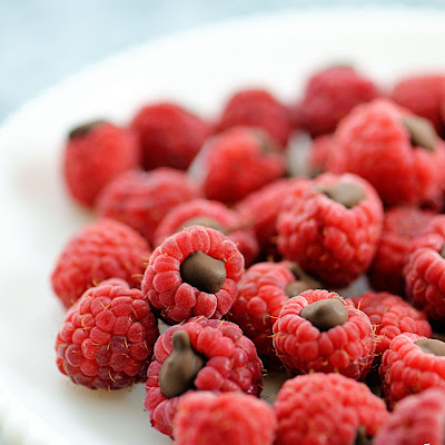 Chocolate Filled Raspberries