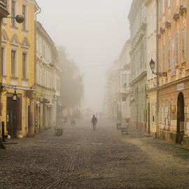alone by Szepesvari Csaba - City,  Street & Park  Street Scenes ( gyor )