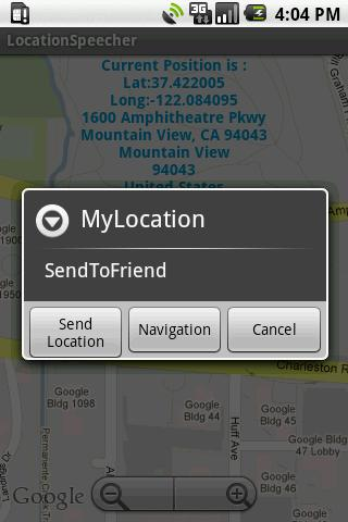 LocationSpeecher + Navigation