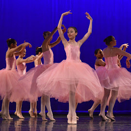 Prima Ballerina  by Sarah Graff - Sports & Fitness Other Sports ( pink ballet dance girl stage performance pointe  tutu )