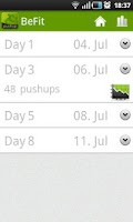 Screenshot of BeFit: pushups Free