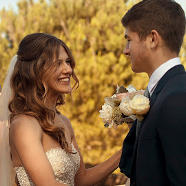 Bride and her Brother by Hayley Langan - Wedding Other ( california, brother, bride, flowers, smile )