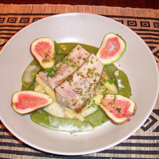 Pan Seared Tuna in Chardonnay Sauce