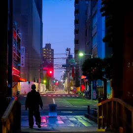 0500H Tokyo by Rico Laurel - City,  Street & Park  Street Scenes