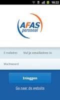 Screenshot of AFAS Personal Huishoudboekje