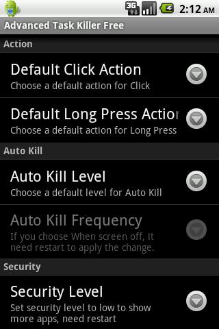 Advanced Task Killer Pro - screenshot