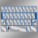 Blue Silver Keyboard Skin icon
