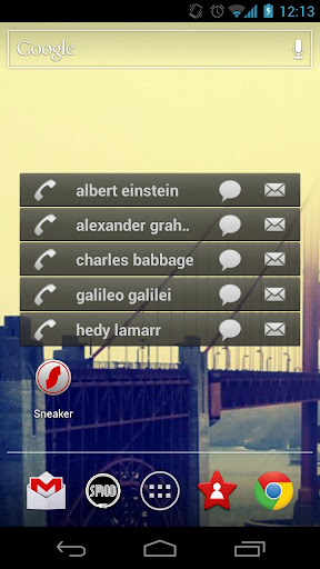 top-contacts-free for android screenshot