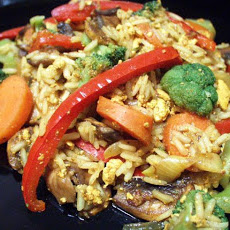 Scrambled Tofu With Veg and Basmati Rice
