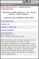 Screenshot of Jeff's Motor Cars