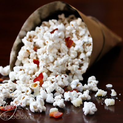 Popcorn Recipe with Pecorino Romano and Bacon