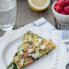 Roasted Potato and Spinach Frittata with Feta