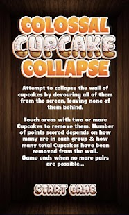 Colossal Cupcake Collapse Game - screenshot
